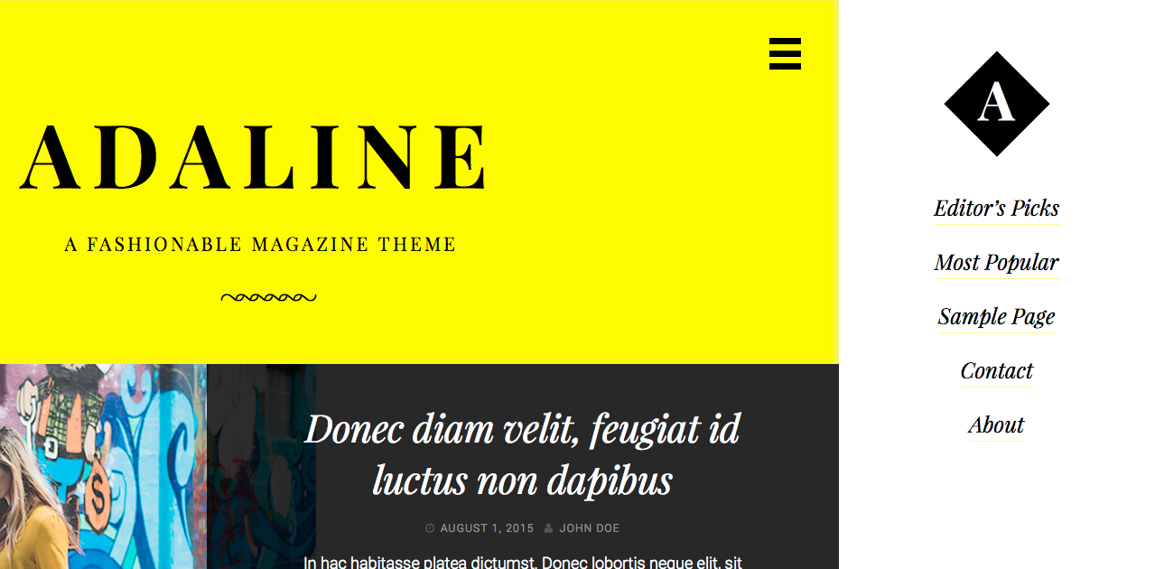Adaline with the default (LTR) stylesheet active.