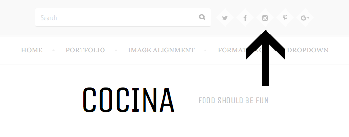 Cocina social nav menu