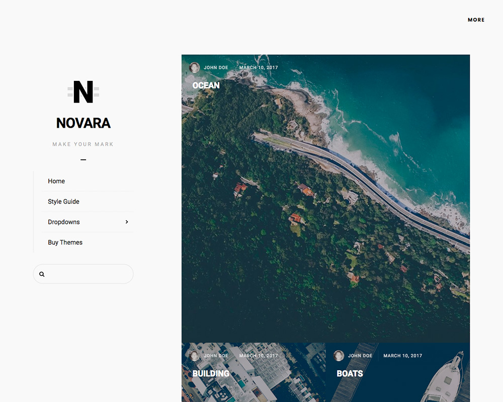 Novara desktop screenshot