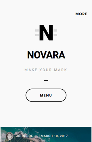 Novara mobile screenshot