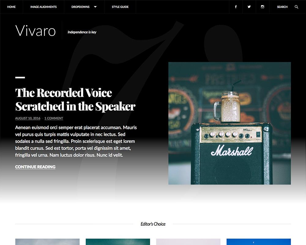 Vivaro desktop screenshot