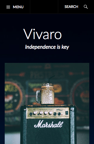 Vivaro mobile screenshot