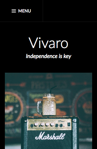 Vivaro mobile screenshot