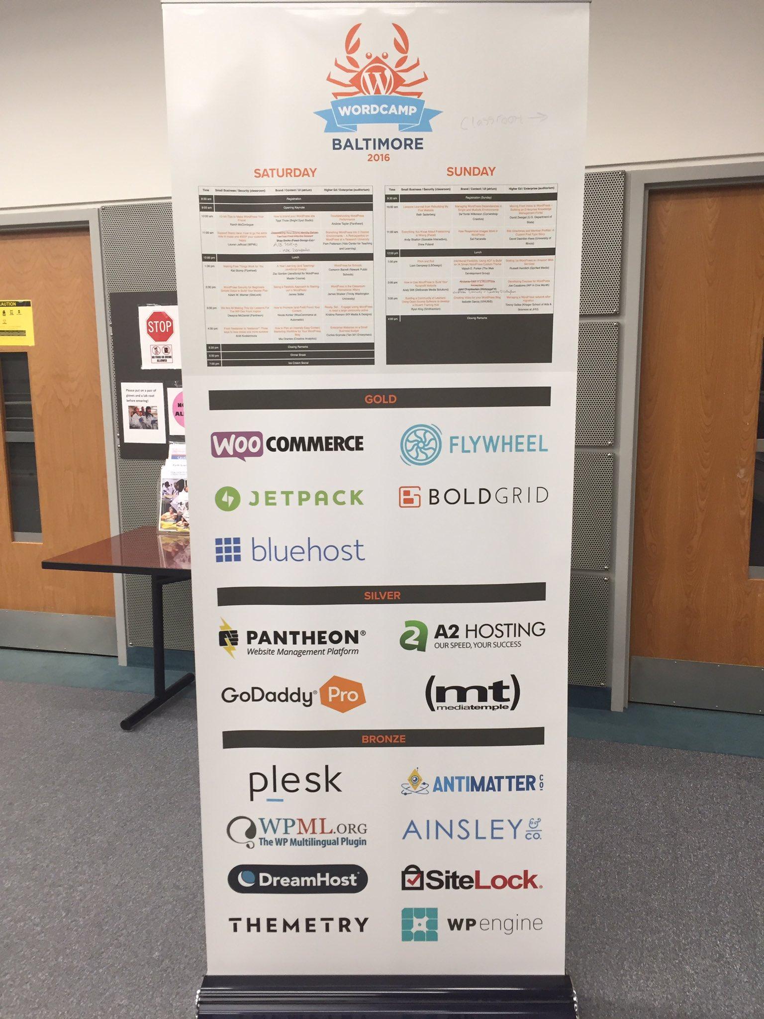 WordCamp Baltimore sponsorship banner